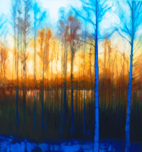 "Winter Siljan Sunset 1 (34"" x 36"")"