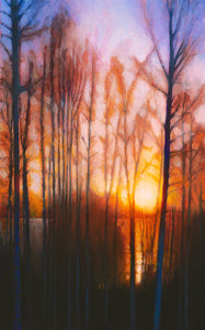 "Winter Siljan Sunset 2 (11"" x 18"")"