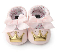 Chaussons Princesse  rose\or - 0 à 18 mois