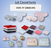 LOT COUVERTURES BEBE