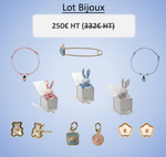 Lot Bijoux Or 18Kt