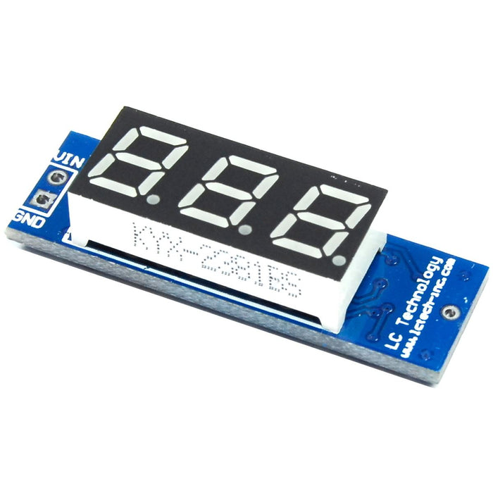 LC Technology 4.5 - 35V Red LED Voltmeter