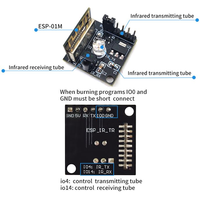 LC Technology ESP8285 Wifi IR Transmitter and Receiver Module
