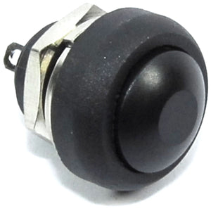 Black 12mm Domed Momentary Switch