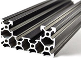 300mm Black Aluminium C Form Extrusion 4080