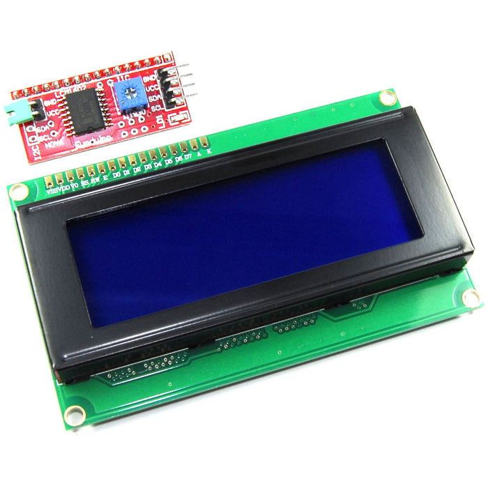 20x4 Blue LCD with Funduino I2C Interface