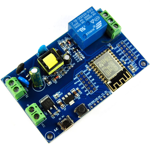 LC Technology 7-12V 1 Channel ESP8266 Wifi Relay Module