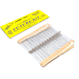 Future Kit 100pcs 3KΩ 1/8W rat. 5% tol. Metal Film Resistors