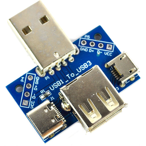 LC Technology USB A USB Micro C 2.54mm Adaptor Module