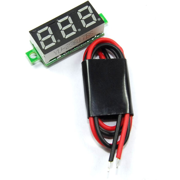 2.5-30V Red LED Panel Voltmeter