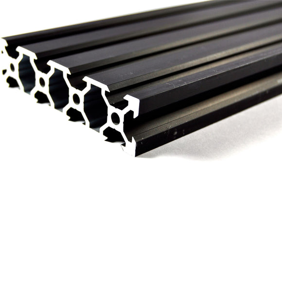 500mm Black Aluminium V Extrusion 2080