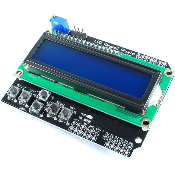 16x2 Blue Keypad Shield