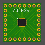 5pcs Flux Workshop VQFN24 Chipset Breakout Adapter Board