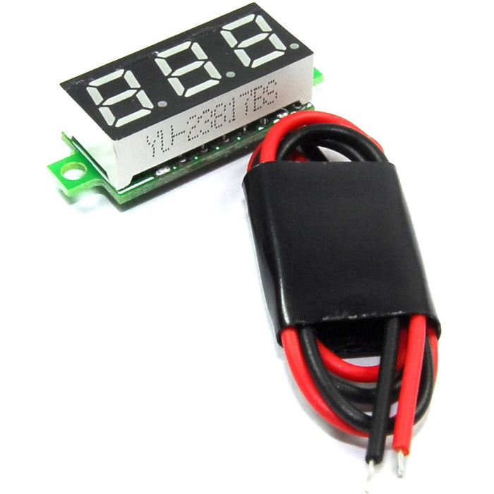 2.5-30V Blue LED Panel Voltmeter