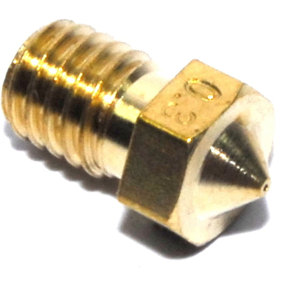 0.3mm M6 1.75mm V6 Brass Nozzle