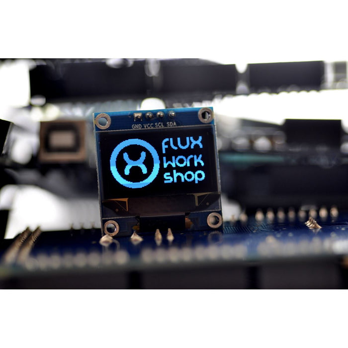 "0.96"" 128x64 Blue OLED Display Module"