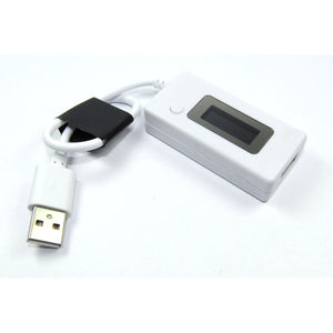 White USB Current Voltage Charger Detector