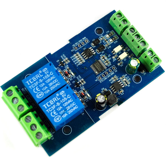 LC Technology RS485 TTL 2 ch. Relay Module (Modbus-compatible)