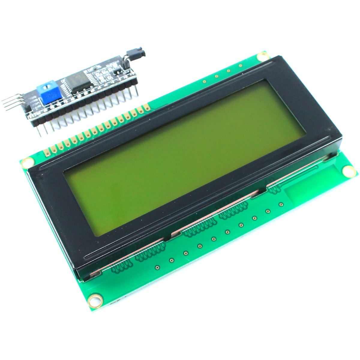 20x4 Green LCD with I2C Interface Module
