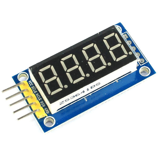 4 Digit Red 7 Segment Serial LED Module