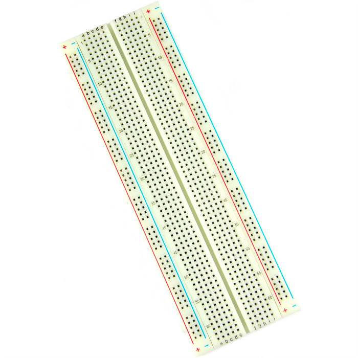 Zhong Yi 830pt 2.54mm White Solderless Breadboard and Jumper Set - ZY-102+ZYJ-140