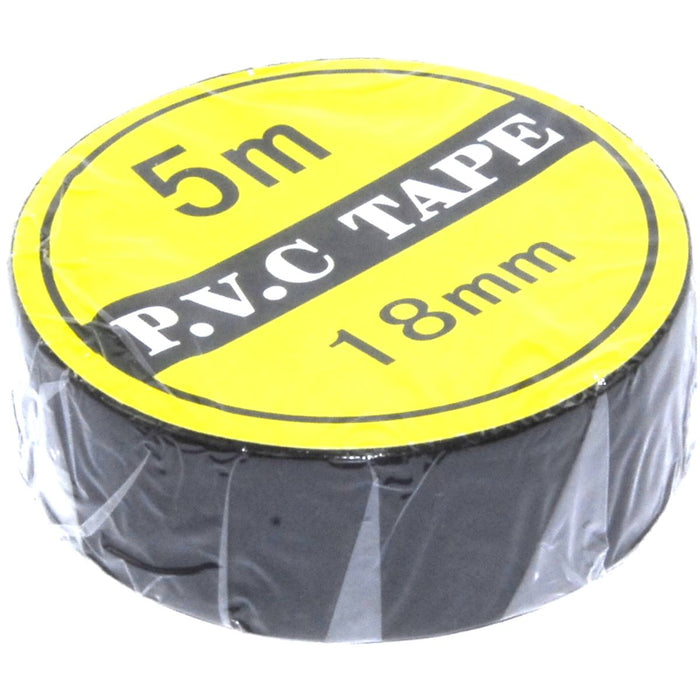 5m 16mm Black PVC Tape