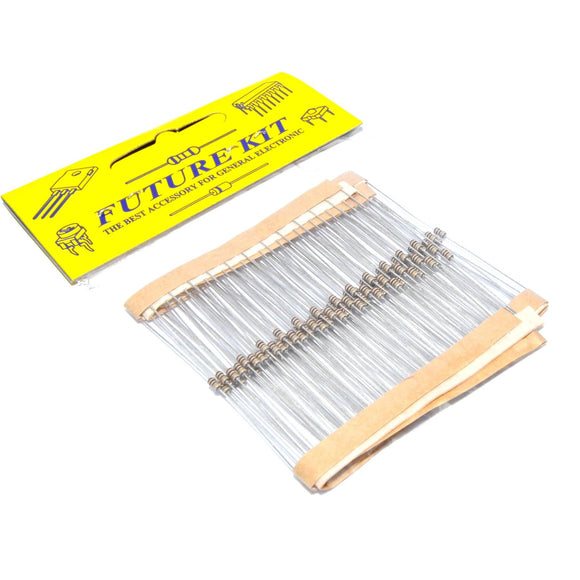 Future Kit 100pcs 270Ω 1/8W rat. 5% tol. Metal Film Resistors