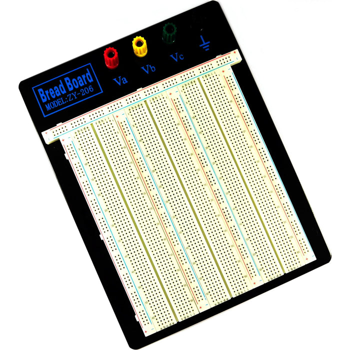Zhong Yi 2390pt 2.54mm White Solderless Breadboard - ZY-206