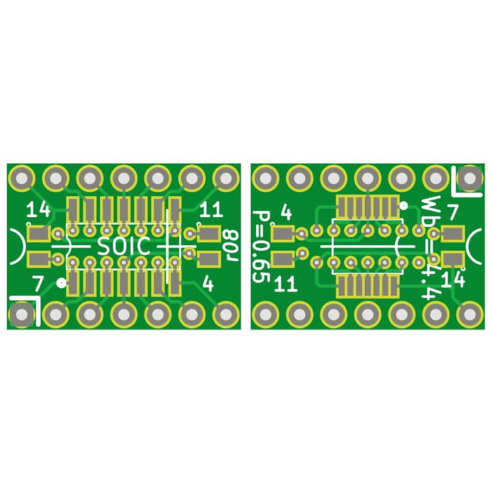 SOIC-14/TSSOP-14 to 14pin 2.54mm Adapter Module