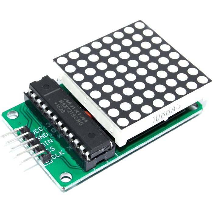 MAX7219 8x8 Red Serial Dot Matrix Display Module