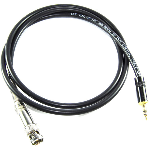 Male BNC to 3.5mm Male Stereo Jack Adapter Cable