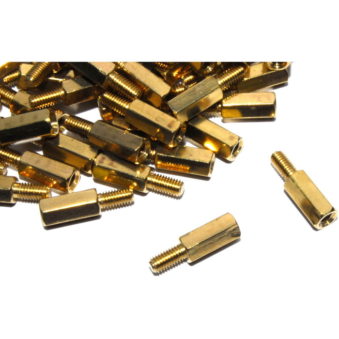 100pcs M3 Male Female 10mm 6mm Brass Standoff Set