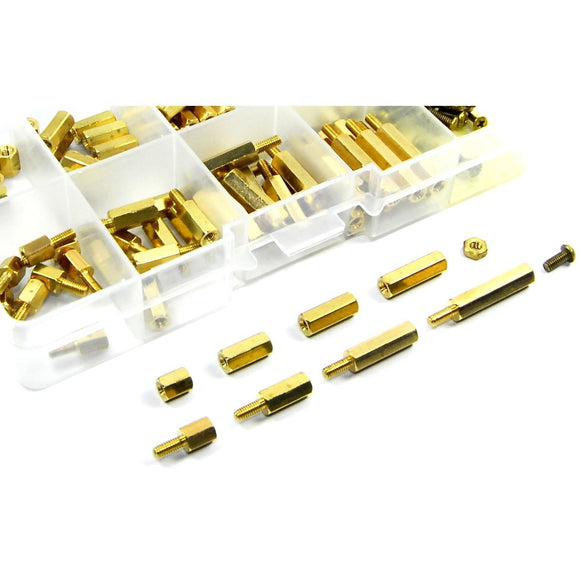 120pcs M2.5 Male Female Brass Standoff Set