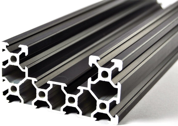 400mm Black Aluminium C Form Extrusion 4080