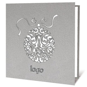 Silver Bauble Laser Card