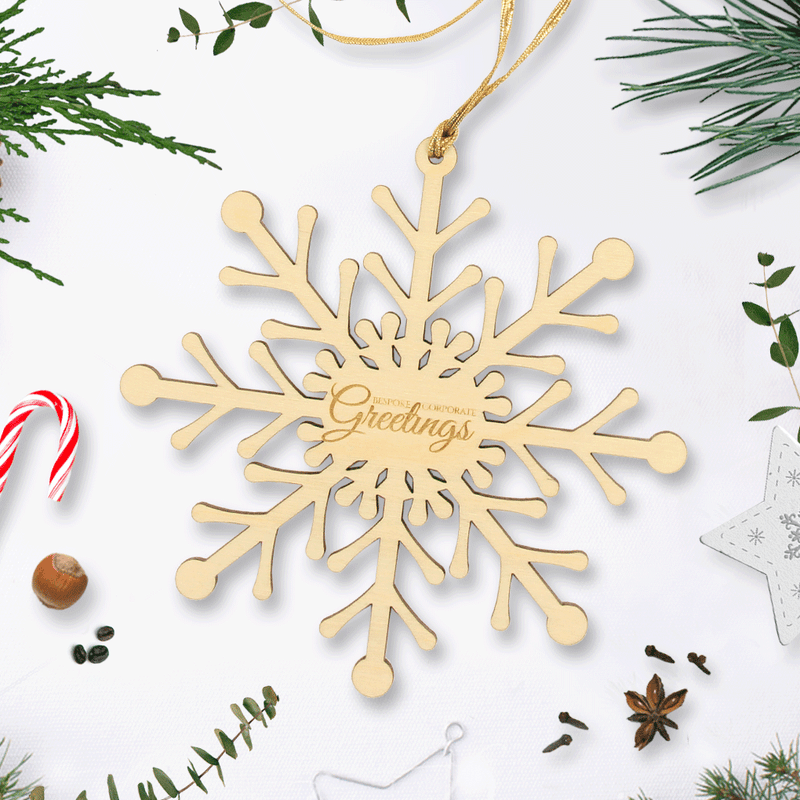Personalised Wooden Christmas Snowflake