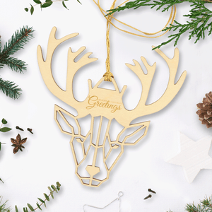 Personalised Wooden Christmas Reindeer