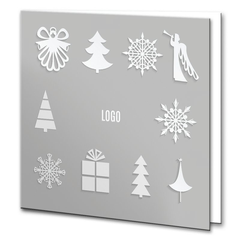 Silver and White Christmas Motifs