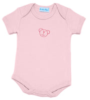 Body manches courtes brodé ourson  Rose