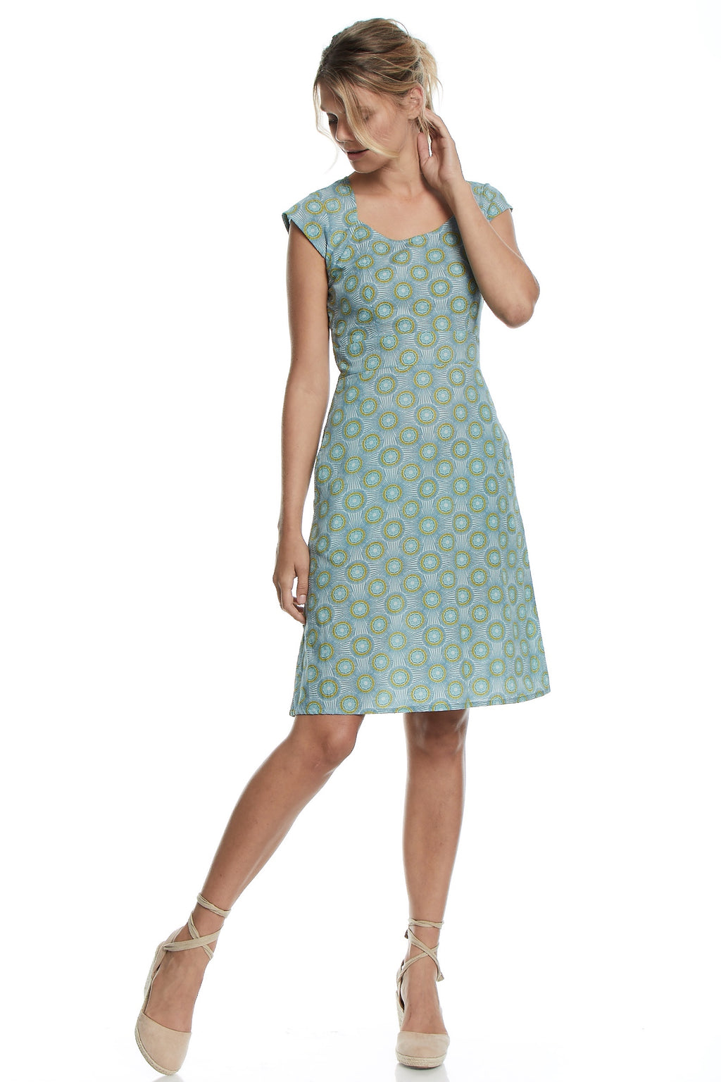 Mahashe Elsy Dress ~ Kiwi Mist