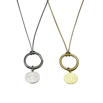 Ring & Oval Charm Necklace