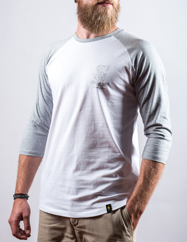 COLLECTOR Raglan Unicorn Blanc et Gris