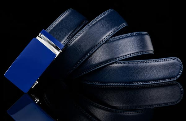 Automatic Buckle Genuine Leather Ratchet Belt without holes