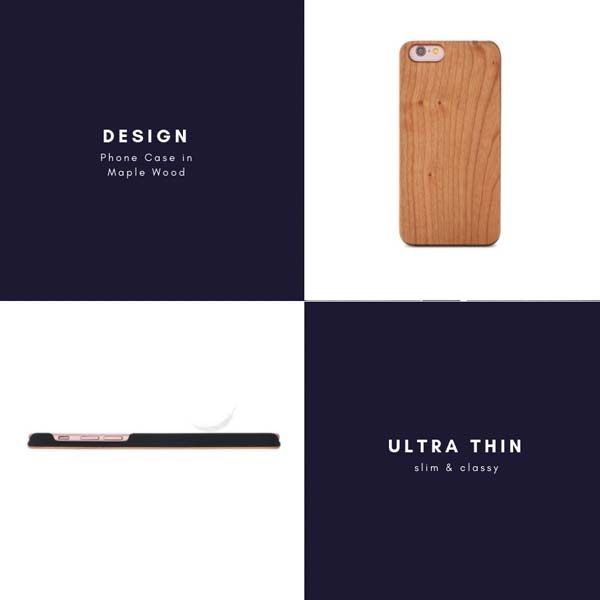 Natural Real Wooden Phone Case Ultra Thin Design