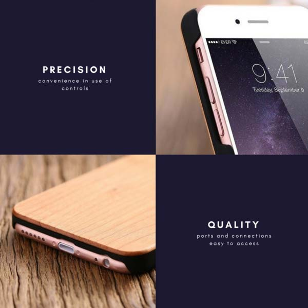 Natural Real Wood Phone Case made with Precision and Quality