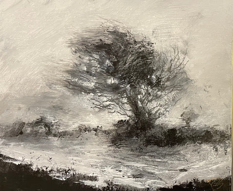 David Baumforth - blasted moorland tree on the whitby road