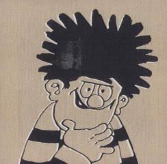 Horace Panter: Beano - Dennis (black and white outline)