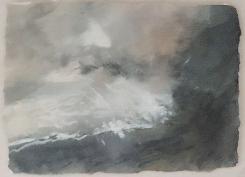 David Baumforth - Turbulent seas towards Flamborough Head