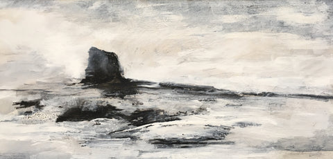 David Baumforth - Study of Black Nab  Saltwick Bay East of  Whitby