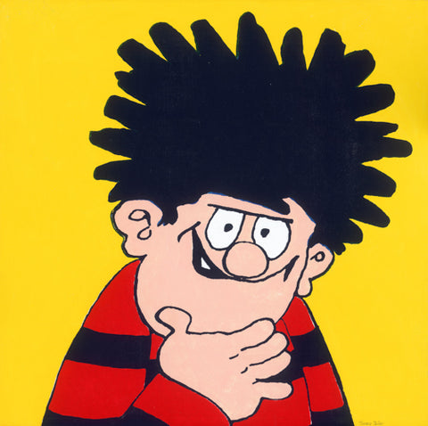 Horace Panter: Beano - Dennis with yellow background